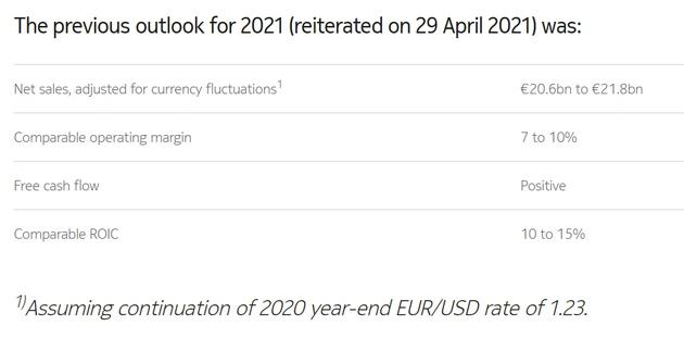 诺基亚预计将调高其2021年全年财务预期