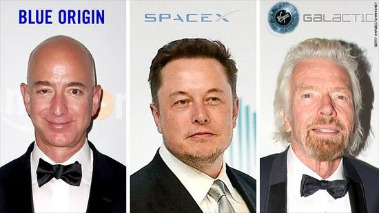 三大富豪之间的太空竞赛贝索斯马斯克和布兰森的目标有何不同